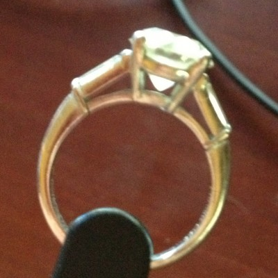 Another view of Original Vintage Diamond Ring