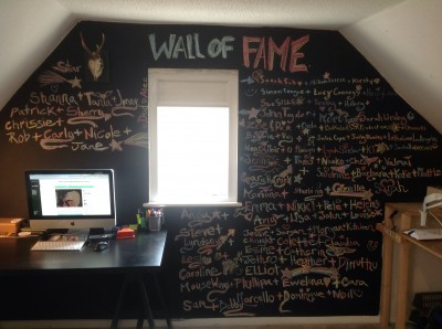 Final picture of our impressibe WALL OF FAME...87 people strong. An amazing accomplishment thanks to all of you!!
